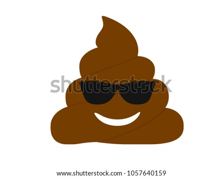 the isolated brown dung