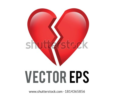 the isolated vector red love
