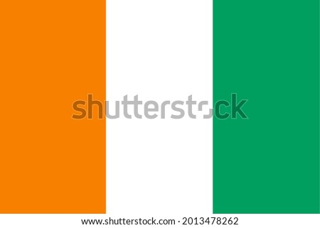 the Ivorian national flag of Cote Ivoire, Africa Photo stock ©