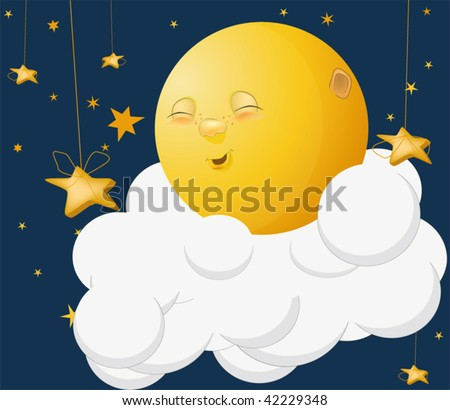 the kind moon on a cloud