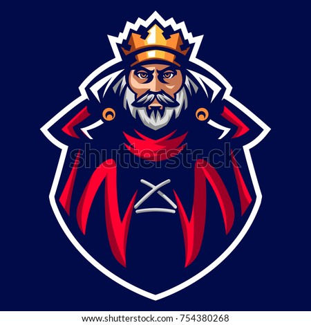 The King mascot logo of Ancient Kingdom in Emperor age
