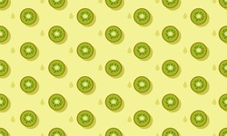 The kiwi pattern on the green background is so fresh and tasteful