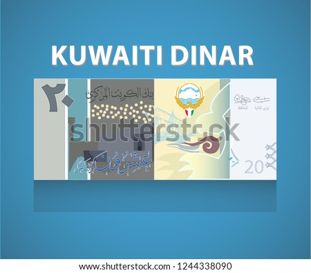 The Kuwaiti dinar (Arabic: دينار, code: KWD) is the currency of Kuwait. It is sub-divided into 1,000 fils. The Kuwaiti dinar is currently the world's highest-valued currency unit per face value