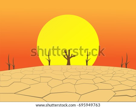 Shutterstock The lack of fertile soil causes the trees to die and the soil is drought with big sun,arid concept