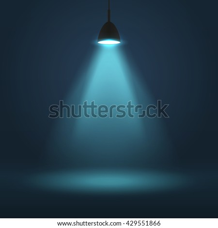 The lamp lights, the light from the lantern.