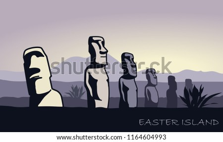 the landscape of easter island