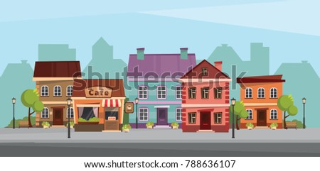 The landscape of the historic city. Vector illustration. #788636107