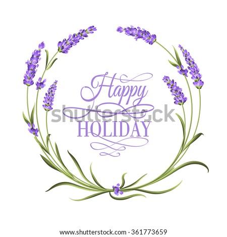 the lavender elegant frame with