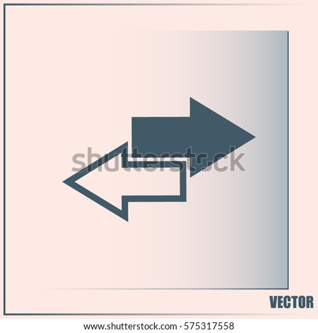 The left and right arrows icon. Arrows symbol. Vector illustration
