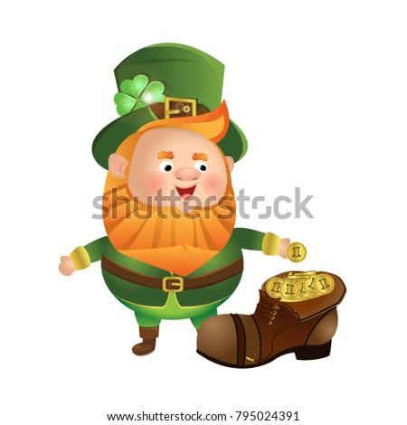 the leprechaun stands near a