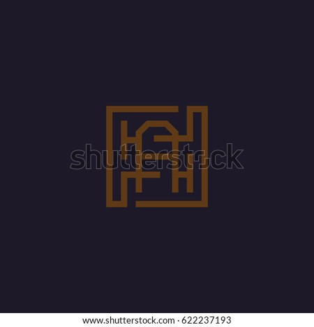the letter a abstract maze