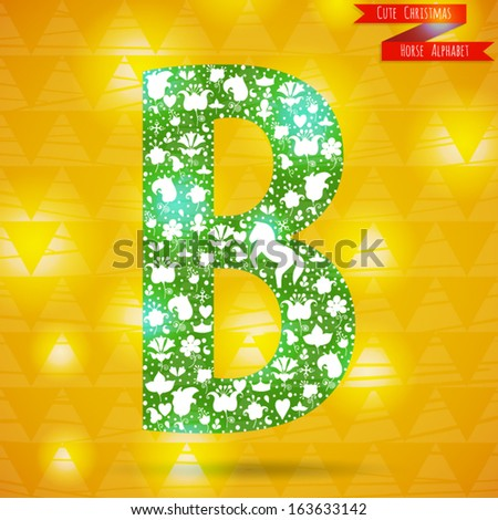 The Letter B  Cute Christmas  B Alphabet In Love
