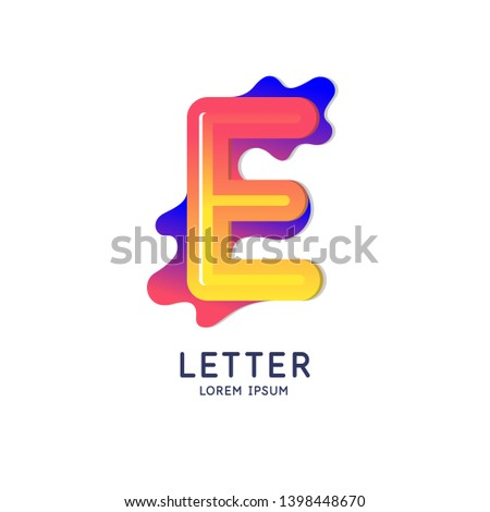 the letter e of the latin