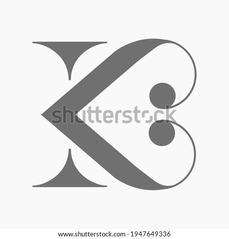 The letter K serif with arm and leg which forms an organic symbol of love. The logo looks mature and luxurious but still sophisticated because of its simplicity. Suitable for wedding logos, etc. Stock fotó ©