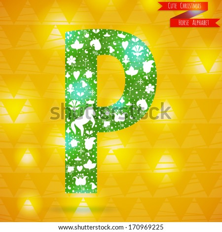 P Alphabet In Love The letter P  Cute christmas