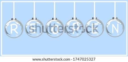 The letter R E O P E N re-opened on the ball glass.  Foto stock ©