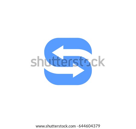 The letter S arrow vector logo