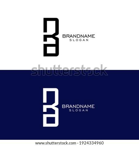 the letters AB, BA. minimalistic design logo vector Zdjęcia stock ©