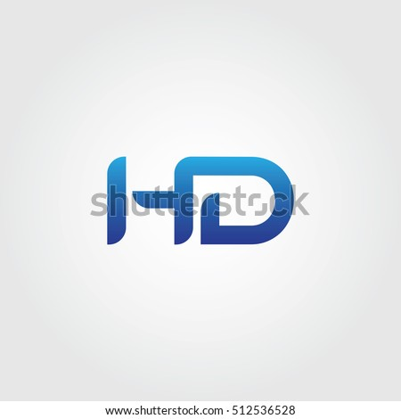 the letters h and d combined icon logo templates hd initial vector