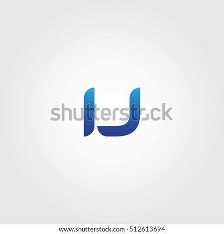 The Letters I And J Combined Icon Logo Templates Ij Initial Vector