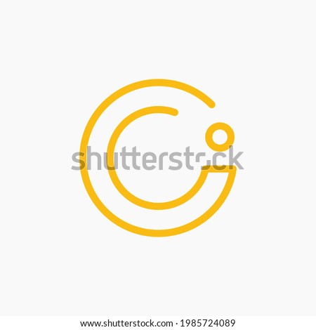 The letters O and i are combined into a simple and memorable circle symbol. This logo is minimalist and still elegant. A logo that fits any company. Foto stock ©