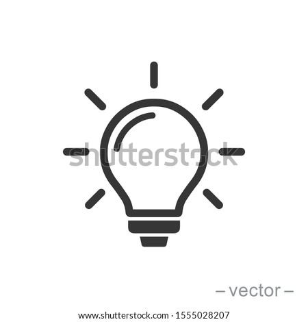 The light bulb icon vector, full of ideas and creative thinking, analytical thinking for processing. Outline symbol illustration. EPS 10