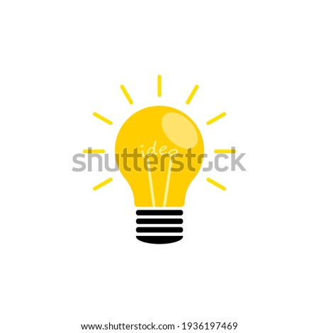 The light bulb is full of ideas for analytical and creative thinking. Energy concept elements symbol. Vector illustration isolated.