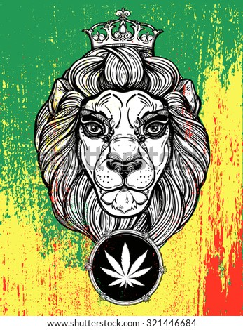 the lion of judah head  reggae