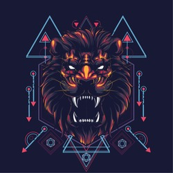 The Lion sacred geometry