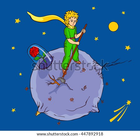 the little prince works on his
