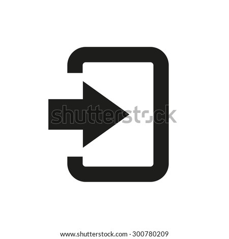 The login icon. Entry and input, authorization symbol. Flat Vector illustration