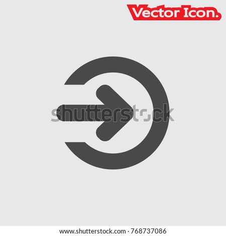 The login icon isolated sign symbol and flat style for app, web and digital design. Vector illustration.