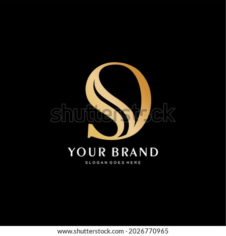 the logo of the letters s and o is premium. the initials of the logo s and okuning are luxurious and simple Zdjęcia stock ©