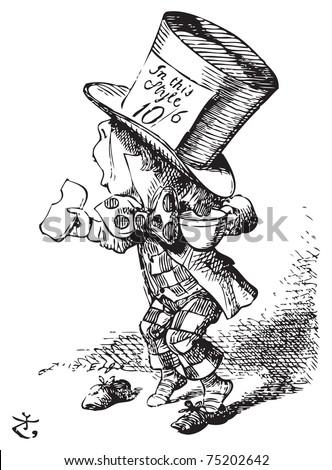 the mad hatter arrives hastily