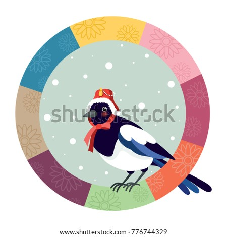 the magpie wearing a