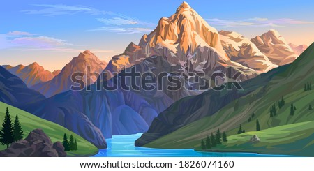 the majestic himalayan range of