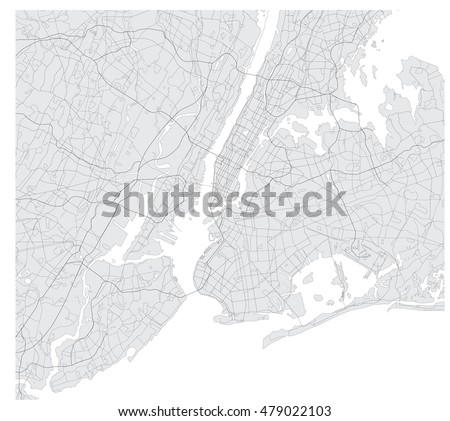 The map of the New York
