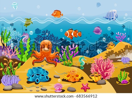 the marine landscape   the