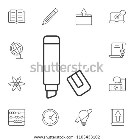 The marker icon. Simple element illustration. The marker symbol design from Internet learning collection set. Can be used for web and mobile on white background