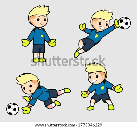 the mascot of a goalkeeper with