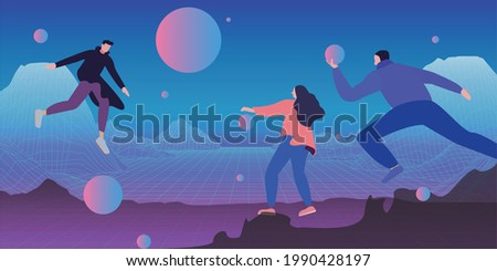 The Metaverse Is Coming soon illustration vector