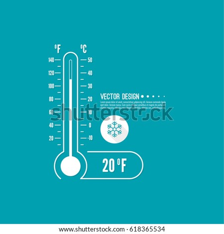 The meteorology thermometer with Celsius and Fahrenheit to measure the temperature of the environment.