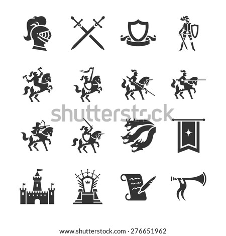 the middle ages vector