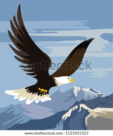 the mighty eagle soars over