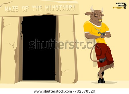 the minotaur stands near the