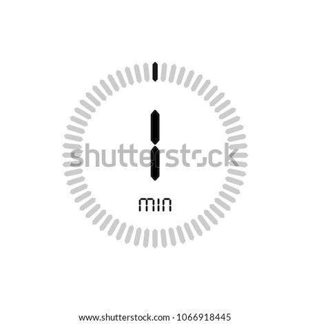 The 1 minutes, stopwatch vector icon, digital timer. clock and watch, timer, countdown symbol.