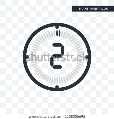 the 2 minutes vector icon