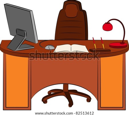 The modern interior of office for businesspeople. Vector