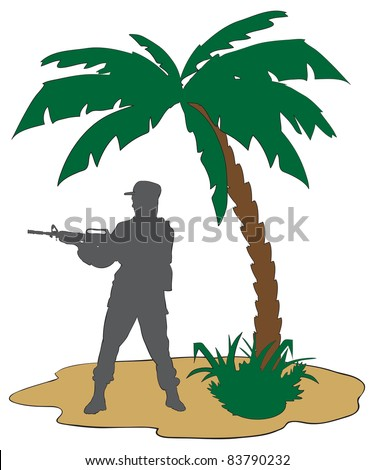 the modern soldier with a rifle