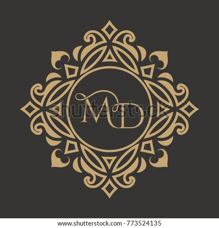 the monogram from the...